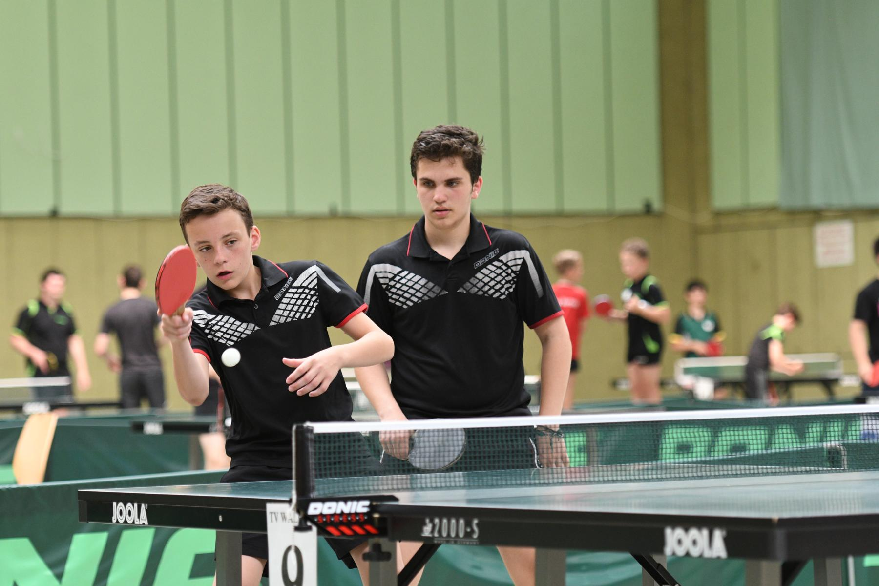 Marc und Flo dominierten die Doppelkonkurrenzen bei Jugend B und Schüler A.
